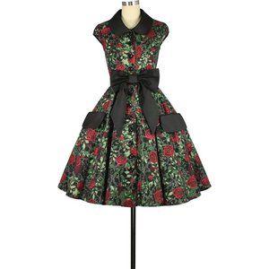 ♥️ Rose Pin Up Plus Size Clothing Dress ♥️